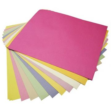 SUGAR PAPER A4 ASSORTED PASTEL COLOURED PAGES - Pack of 100 Sheets